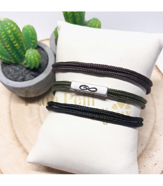 Pulsera personalizada TUBO cordón doble