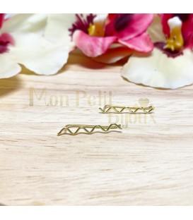Pendientes trepadores ZIGZAG plata con baño de oro