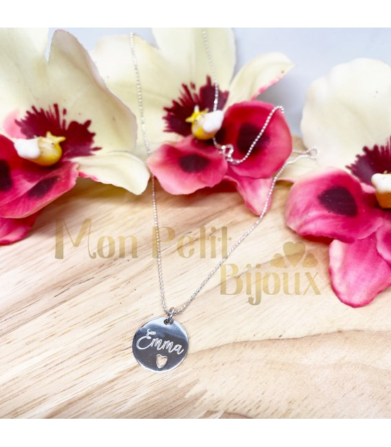 Collar personalizado Corazón calado plata