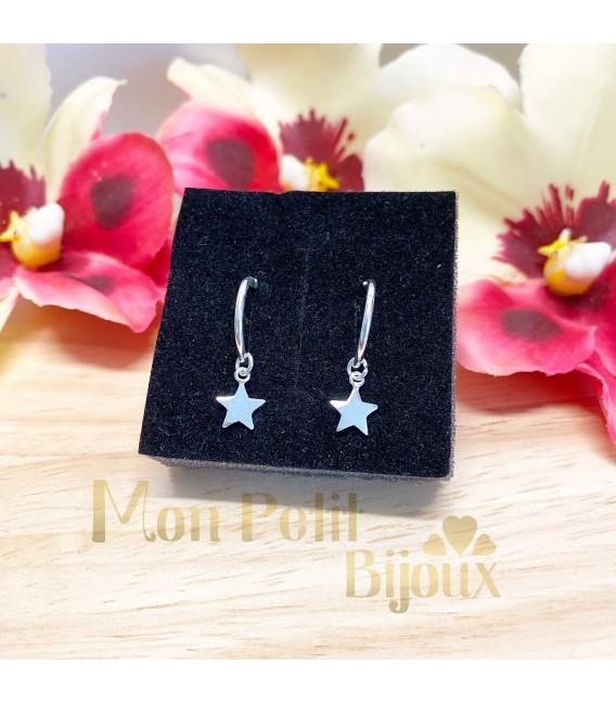 Aros con colgante Estrella (2 medidas)