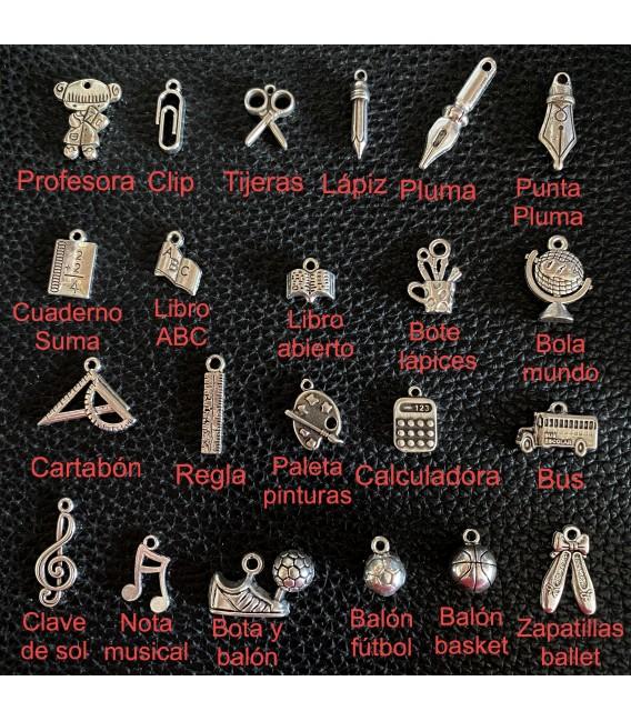 Pulsera personalizada cadena y cuero (ideal profes)