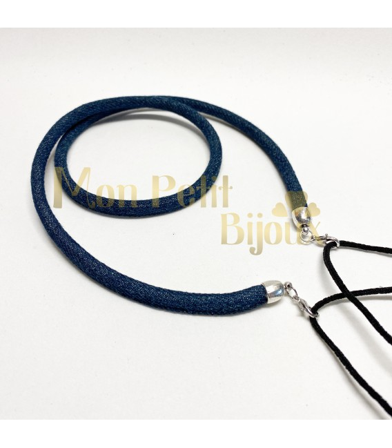 Cuelga mascarilla / gafas vaquero redondo