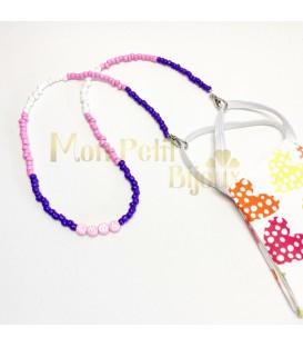 Collar Mascarilla de colores con nombre
