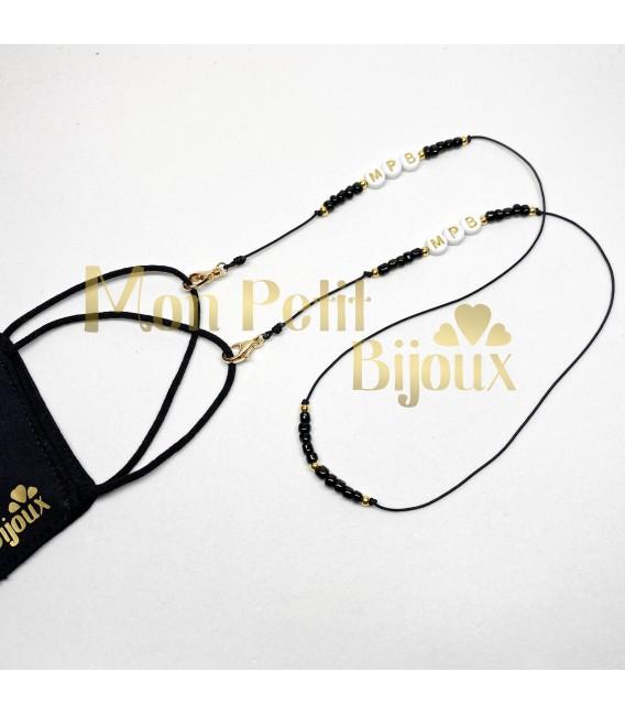 Collar para mascarilla personalizado cordón