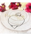 Pulsera Corazón pequeño plata