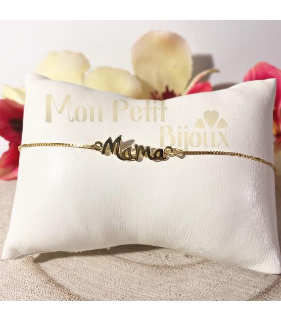 Pulsera Mama plata con baño de oro