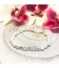Pulsera Mama plata y perlas cultivadas