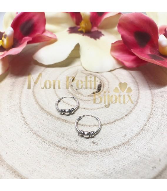 Aros Bali Plata 12mm